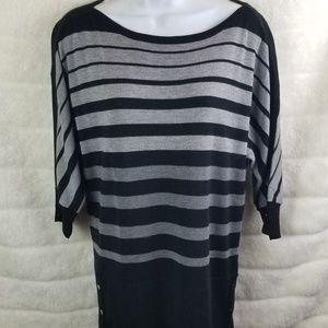 WHBM Black & Gray Sweater Dress
